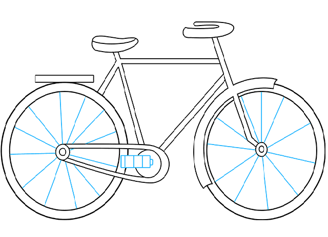 Vẽ căm cho xe đạp