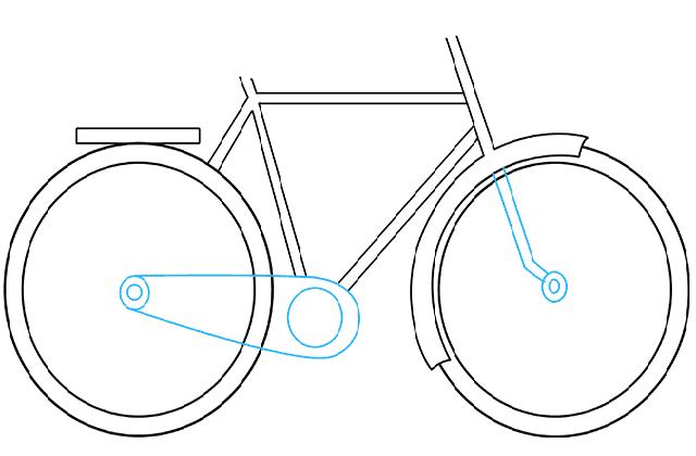 Vẽ chuỗi cho xe đạp