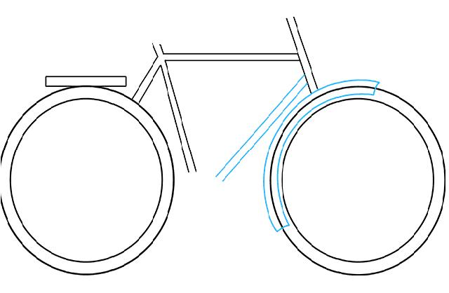 Vẽ sườn chắn bùn cho xe đạp