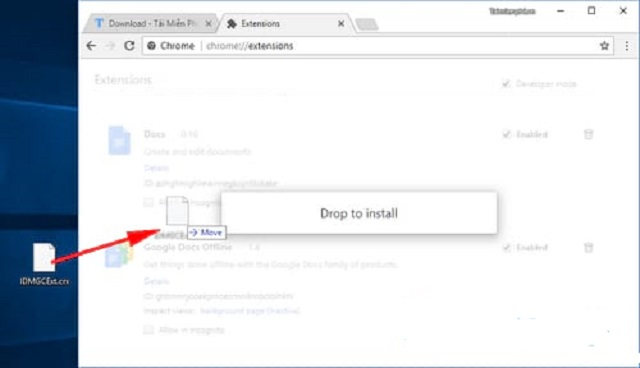 Bước 3: Dán file vào Chrome