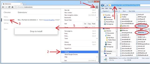 Hoàn thành tích hợp IDM vào trình duyệt Chrome