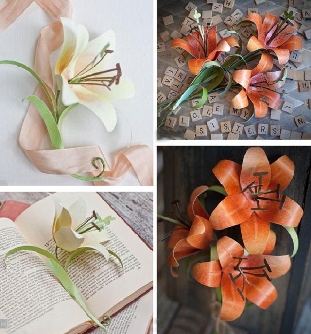 Hướng dẫn cách làm hoa ly bằng giấy đẹp