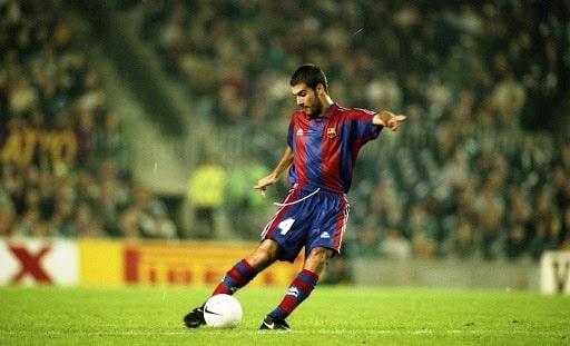 Pep Guardiola thời còn là cầu thủ